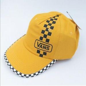 Checkered top hat Vans